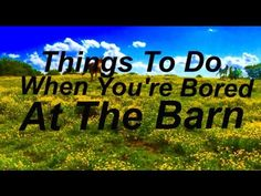 Things To Do When You're Bored At The Barn! - YouTube Things To Do, Channel, Barn, Youtube, Things To Make, Converted Barn, Youtubers, Barns, Shed