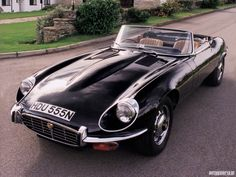 Black 1970 Jaguar XKE Roadster