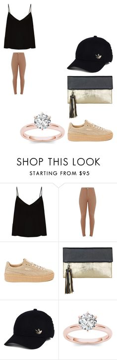 """sakws"" by bvby-bre ❤ liked on Polyvore featuring Raey, Puma, BeckSöndergaard and adidas"