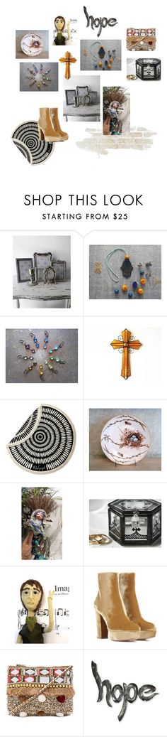 MY STYLE by claudia-nanni-fine-art on Polyvore featuring Gianvito Rossi, Shashi, The Beach People and NOVICA
