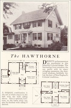 "wide front entrance colonial houses | ... with siding if desired."" ( Lewis Homes: Homes of Character , 1922"
