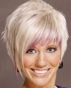 The Awesome Lilac and Fuschsia Short Hairstyle