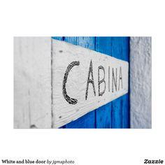 White and blue door poster - wood gifts ideas diy cyo natural Wood Wall Art, Wall Art Decor, Poster Prints, Art Prints, Artwork Pictures, Wood Gifts, Retro Ideas, Blue Art, Blue Walls