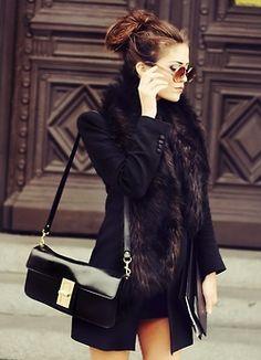 love this coat!! feather trim...LOOOVE!!