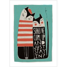 Shall We Curl Up Fine Art Print por FreyaArt en Etsy