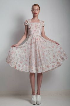 sheer 1940s ethereal romantic party dress by shoprabbithole