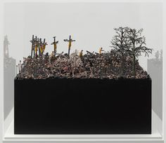 'in our dreams we have seen another world' by jake & dinos chapman is a mixed media inferno of small-scale zombies, nazis, corpses and ronald mcdonalds. Sculpture Projects, Sculpture Art, Art Projects, Sculptures, Jake And Dinos Chapman, Angels Blood, Fluxus, Art Basel Miami, Thing 1