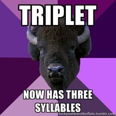 ... oh, you're right! it DOES only have two! LOL I've always counted it with THREE syllables! lol