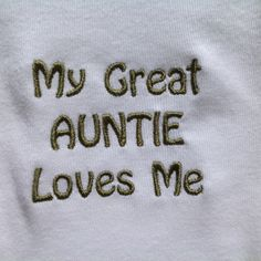 Baby Clothes Onesie My Great Auntie Loves Me by JLHandicrafts