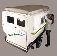 These look great. They are inexpensive and you assemble them yourself in either a truck bed or on a flat trailer. - adventureideaz.comadventureideaz.com
