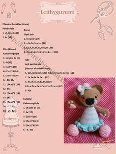Crochet Pig, Crochet Teddy, Crochet Doll Pattern, Crochet Patterns Amigurumi, Crochet Dolls, Amigurumi Tutorial, Toy Craft, Handmade Toys, Doll Patterns