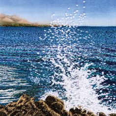 Crashing Waves taken from Machine Embroidered Seascapes