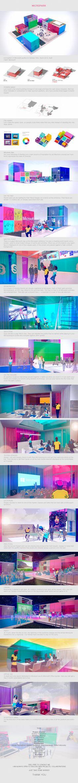 Sochi 2014. Microsoft Pavilion by Nikita Kolbovskiy, via Behance