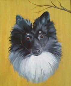 This is my german spitz, his name is Tasi. The picture is painted by my mother <3