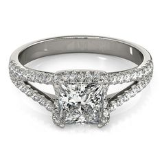 Buy online, view images and see past prices for ctw VS/SI Princess Diamond Halo Ring White Gold - - Invaluable is the world's largest marketplace for art, antiques, and collectibles. Princess Cut Engagement Rings, Halo Diamond Engagement Ring, Engagement Ring Styles, Moissanite Diamonds, Princess Cut Diamonds, Or Rose, Rose Gold, Fashion Rings, Cartier