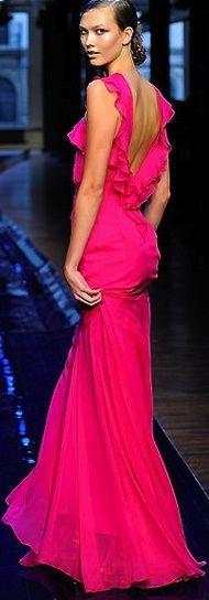 Jason Wu. Bold color.  #pink #evening dress #color
