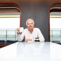 "Richard Branson on Instagram: ""Always time for tea. @virginvoyages"""
