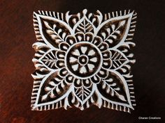 Hand Carved Indian Wood Textile Stamp Block by charancreations, $24.00
