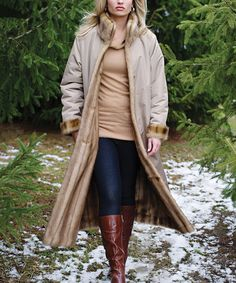 Look what I found on #zulily! Tan Storm Reversible Coat - Women by Donna Salyers' Fabulous-Furs #zulilyfinds