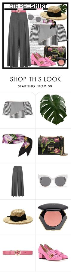 """Striped shirt contest"" by emilymiller ❤ liked on Polyvore featuring Vanity Fair, La Ligne, Dolce&Gabbana, J.Crew, Blanc & Eclare, Sensi Studio, H&M, Gucci, contest and stripedshirt"