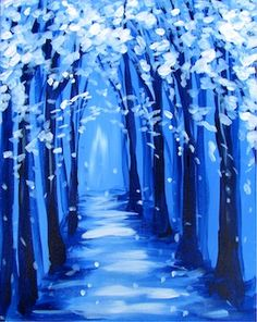 Paint Nite Pittsburgh | Winter Path at Bronze Hood Lounge 12/10/2014