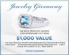 Holsted Jewelers Gold Blue Topaz and Diamond Cocktail Ring Giveaway Blue Topaz Diamond, Shopping Spree, Cocktail Rings, Amethyst, Jewels, Giveaways, Contests Canada, Potpourri, White Gold