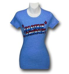 Images of Captain America Logo on Heather Women's T-Shirt