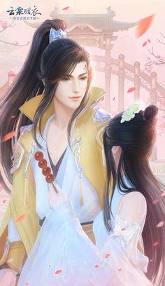 微博 Anime Art Girl, Manga Art, Anime Guys, Fantasy Couples, Fantasy Art Men, Anime Love Couple, Couple Art, Romantic Couples, Cute Couples