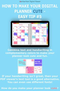 Make your digital planner look cute with 5 quick and easy tips - to help you get your stuff sorted.