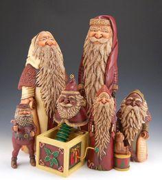 Susan Mattix's Santas are my favorite.  See her work on Facebook under Susan Mattix.  Wonderful faces!