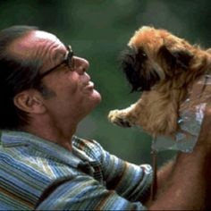 "Jack Nicholson: Oscar al mejor actor 1997 por ""Mejor Imposible"" Jack Nicholson, Comedy News, Helen Hunt, Great Comedies, Famous Dogs, Fear Of Flying, Brussels Griffon, Drama, Ewok"
