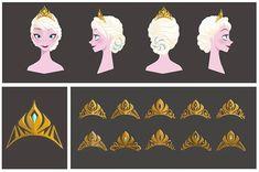 FROZEN, concept art visual development for Elsa's tiara crown