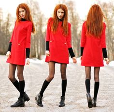 My Red Dress (by Ebba Zingmark) http://lookbook.nu/look/2869949-My-Red-Dress