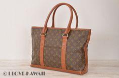 Louis Vuitton Monogram Weekend PM Tote Hand Bag M42425