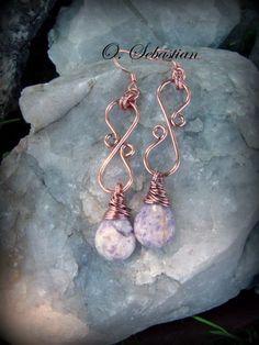 Copper Bellus Earrings   SOLD