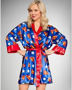 Supergirl Silky Robe - Spencer s. SupergirlSupermanPajamasWedding ... 391c7ef6c