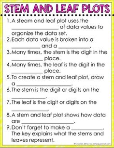 Stem and leaf plot worksheet customizable and printable for Stem and leaf plot template