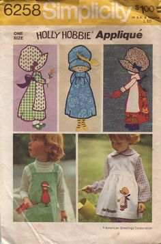Cute Holly Hobbie appliqués