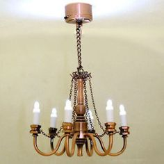 Mini Battery Lighting Copper Finish Candle Chandelier 1:12 Dollhouse Miniatures | Dolls & Bears, Dollhouse Miniatures, Lamps & Lighting | eBay!