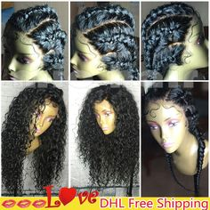 Online Shop Curly Full Lace Human Hair Wigs for Black Women Virgin Brazilian Lace Front Wig Glueless Full Lace Human Hair Wig with Baby Hair | Aliexpress Mobile