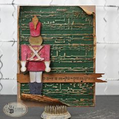 Design team member @Tammy Tutterow shares a card with us on our blog featuring the new @Tim Holtz Toy Soldier die (shipping in October).  Learn more about her card on the Sizzix blog: http://sizzixblog.blogspot.com/2012/08/toy-soldier-holiday-card.html