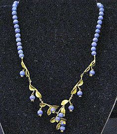 Blueberry Bead Rope Necklace