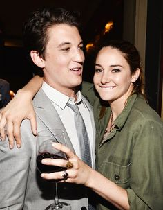 Miles Teller and Shailene Woodley Miles Teller, Shailene Woodley, Fault In The Stars, The Spectacular Now, Adore U, Theo James, Celebrity Couples, Man Crush, Role Models