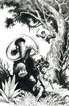 Mark Schultz (1955) Escritor e ilustrador de libros y cómics americano, creador de la  serie Xenozoic Tales.