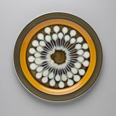2013/16/16 Dinner plate, stoneware, 'Jupiter' in Electra series, made by Casual Ceram, Japan, c.1975 - Powerhouse Museum Collection