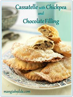 Just in time for Carnevale, Cassatelle with Chickpea and Chocolate Filling! #cassatelle #carnevaledesserts #sicilianrecipes