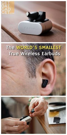 The Earin A-3 Earbuds are the world's smallest true wireless Bluetooth earbuds. It comes packed with high-end features such as touch sensor controls, accelerometer for detecting right or left ear wear (you don't have to worry about which earbud goes into which ear), proximity sensors for wear detection (auto turn off when you remove from your ears to save battery) and even hall sensors to detect the charging case. #GetdatGadget #EarinA3 #WirelessEarbuds #BluetoothEarbuds #TrueWireless Bluetooth Earbuds Wireless, Audio Music, Audio Equipment, Ears, Good Things, Touch, Ear