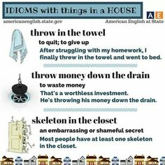 Idioms: things in the house