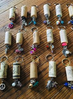 Best 11 A wine cork keychain is perfect for that wine lover in your life or for yourself. Each keychain uses beautiful crystal style beads You can chose – SkillOfKing. Wine Craft, Wine Cork Crafts, Wine Bottle Crafts, Champagne Cork Crafts, Upcycled Crafts, Handmade Crafts, Rustic Crafts, Diy Crafts, Wine Cork Art