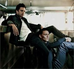 Tom Hiddleston & Sebastian Stan, the moment you realize they would make the hottest celeb guy couple! <--  Oh my word!